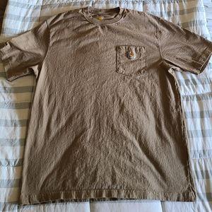 Men's Carhartt Pocket T-Shirt, Tan/Brown, Size L